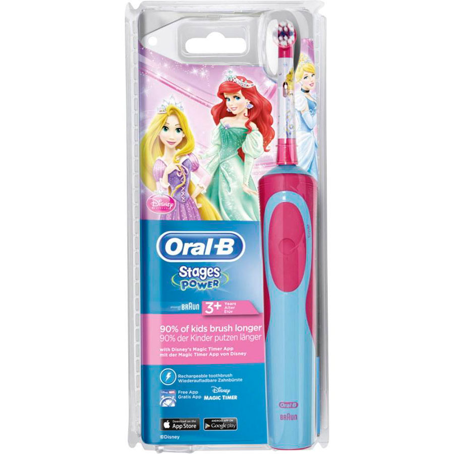 Дитяча зубна щітка Oral-B D12.513K Stages Принцеса 1 насадка 4d157d69e0aff